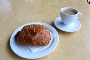 coffee and pan au chokolate