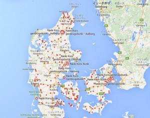 Røde kros genbrugsbutik map