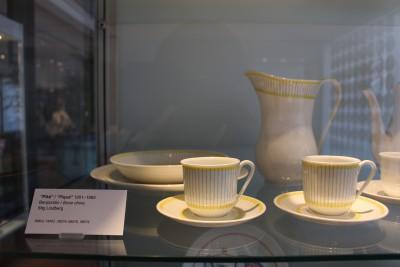 黄色と灰色の陶器