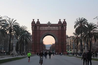夕暮れ時の凱旋門